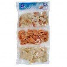 Wok Mix Fish fillet pieces - pink salmon, allaska pollock, sole, 900g