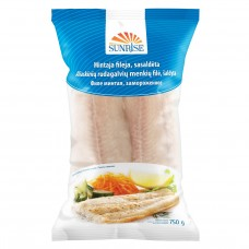 Alaska Pollock fillets s/less, 1kgx10, Sunrise, 25%  (dried weight 750gr), China