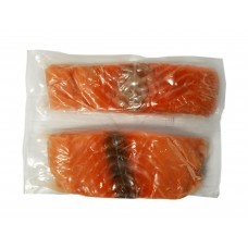 Salmon portions skin less E trim 220-240 gr vacuum  (5.67 kg ) Sweden