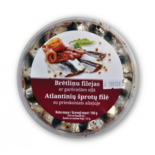 Sprat fillets with spices in oil, 160g