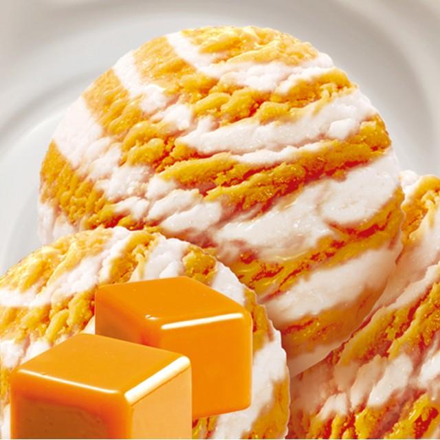 "Ice cream ""Toffi-Karamele"" double-layer caramel and vanilla flavor 2x4000 ml"