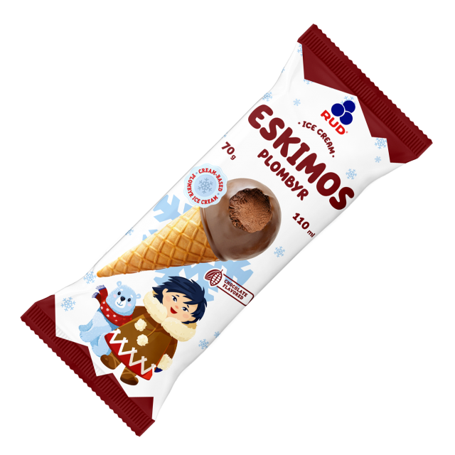 Chocolate  ice cream Eskimos 18*70g/110ml