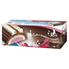 Ice cream TANGO log chocolate- vanilla- strawberry  (4x1000ml) Poland