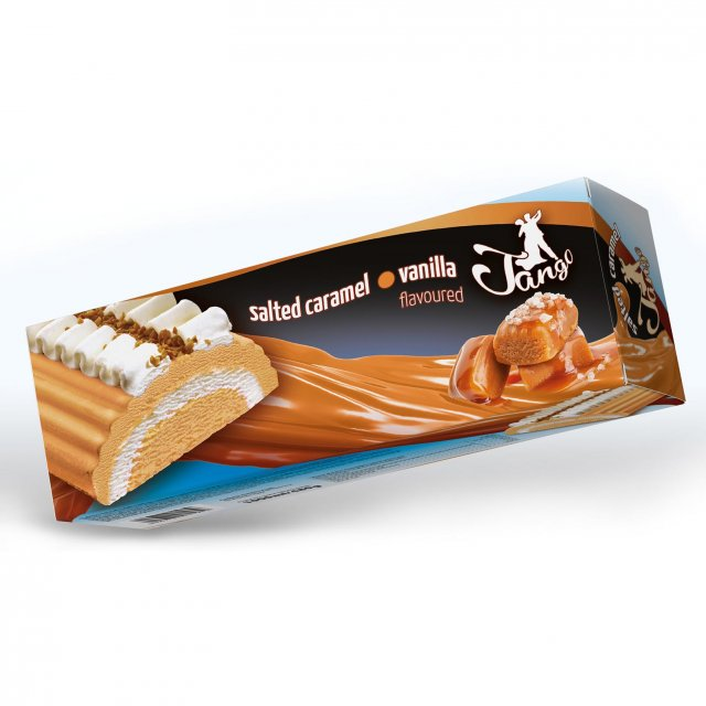 Ice cream TANGO cake vanilla with salted caramel, 1000ml