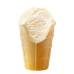 Vanilla ice cream in waffle cup
