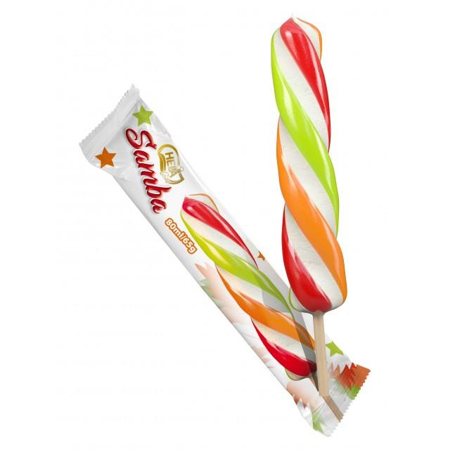 """Saldējums """"Samba"""" vaniļas saldējums ar sulas glazūru 40*80ml Polija"""