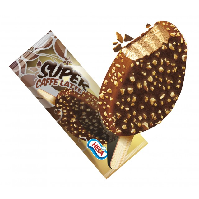 Ice Cream Super Caffe Latte   with chocolate and nuts (24 x 120ml) Poland