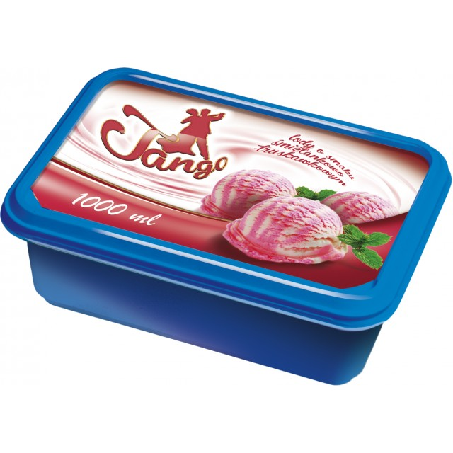 Ice cream TANGO vanilla - strawberry  (6x1000ml) Poland