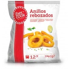 Battered squid rings (preformed) Spain (8x1kg) Ibercook
