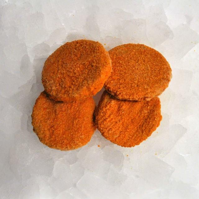 Balto zivju burgeri ar dārzeņiem panējumā  17 % zivis,  5 kg Polija