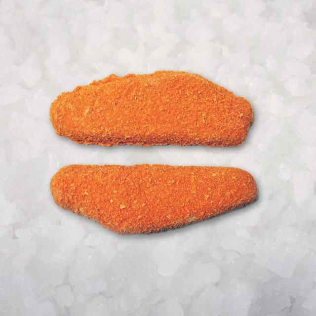 Breaded white fish fillets portions , 100 gr/pcs  (55 % fillets) 5 kg, Poland