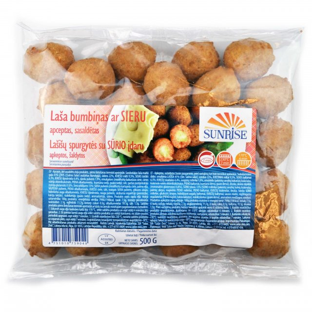 Salmon meat balls with cheese fried, 500g, Latvia