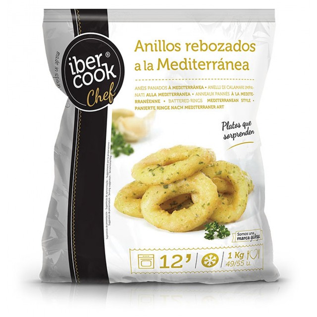 Battered squid rings Mediterranean style (preformed) Spain (4x1kg) Ibercook