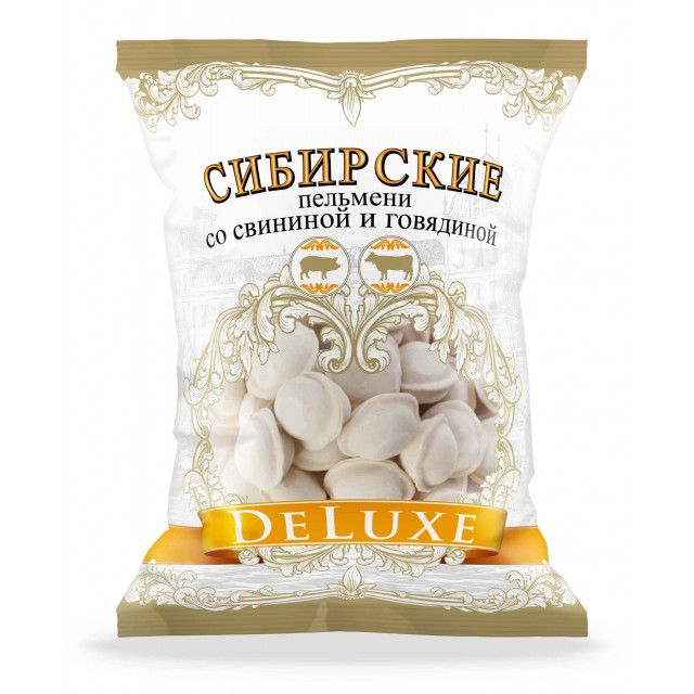 """Dumplings """"DELUXE Sibirskie"""" with pork and beef, 700g."""