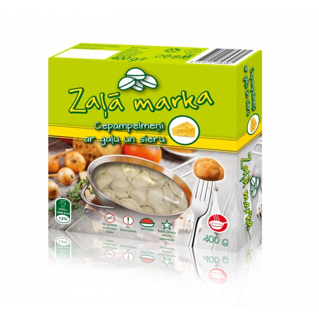 """Dumplings with meat and cheese """" Zaļā Marka"""", 400g."""