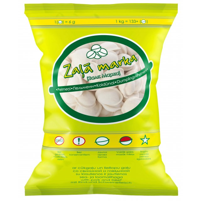 "Dumplings ""Zala marka"" with pork and beef, 1kg."