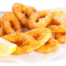 Battered squid rings, 1kg