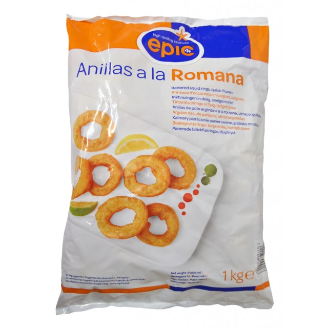 Battered squid rings Romana, Spain Epic (8x1kg)