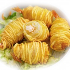 Potato-wrapped shrimps Vietnam (5х1kg)