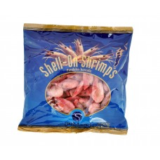 Coldwater prawns head-on, shell-on, cooked 90/120 Estonia (8x500g) 35% Subland