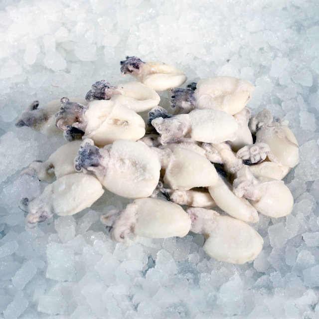 Baby Cuttlefish Whole, cleaned, raw, 60+, 1kg, 20%