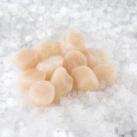 Sea scallop meat 10/20 roe-off, 1kg, 10%