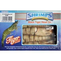 Black Tiger head-on, shell-on, raw 4/6 Vietnam (10x750g NW)