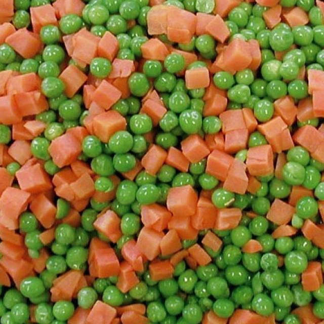 Medium peas/diced carrots (4*2,5 kg) Belgium