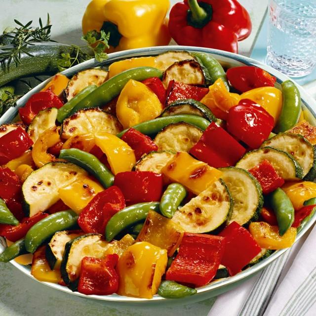 Grilled stir-fry vegetables mediterranean style 6*1.5kg
