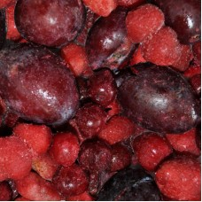 Fruitmix (4*2,5 kg)- strawberries, cherries, plump halfs, blackcurrant, Lithuania